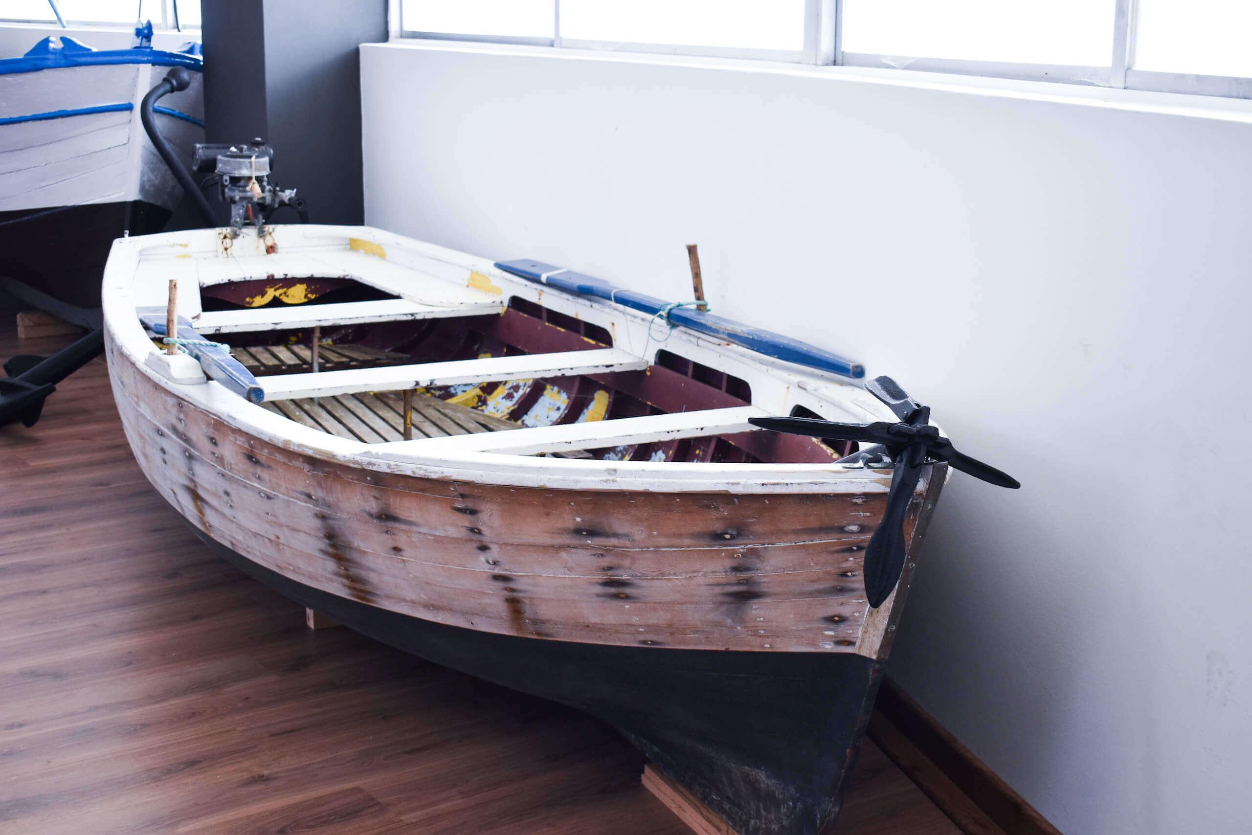 Ejemplo de embarcaciones tipicas de Cedeira - Museo Mares de Cedeira