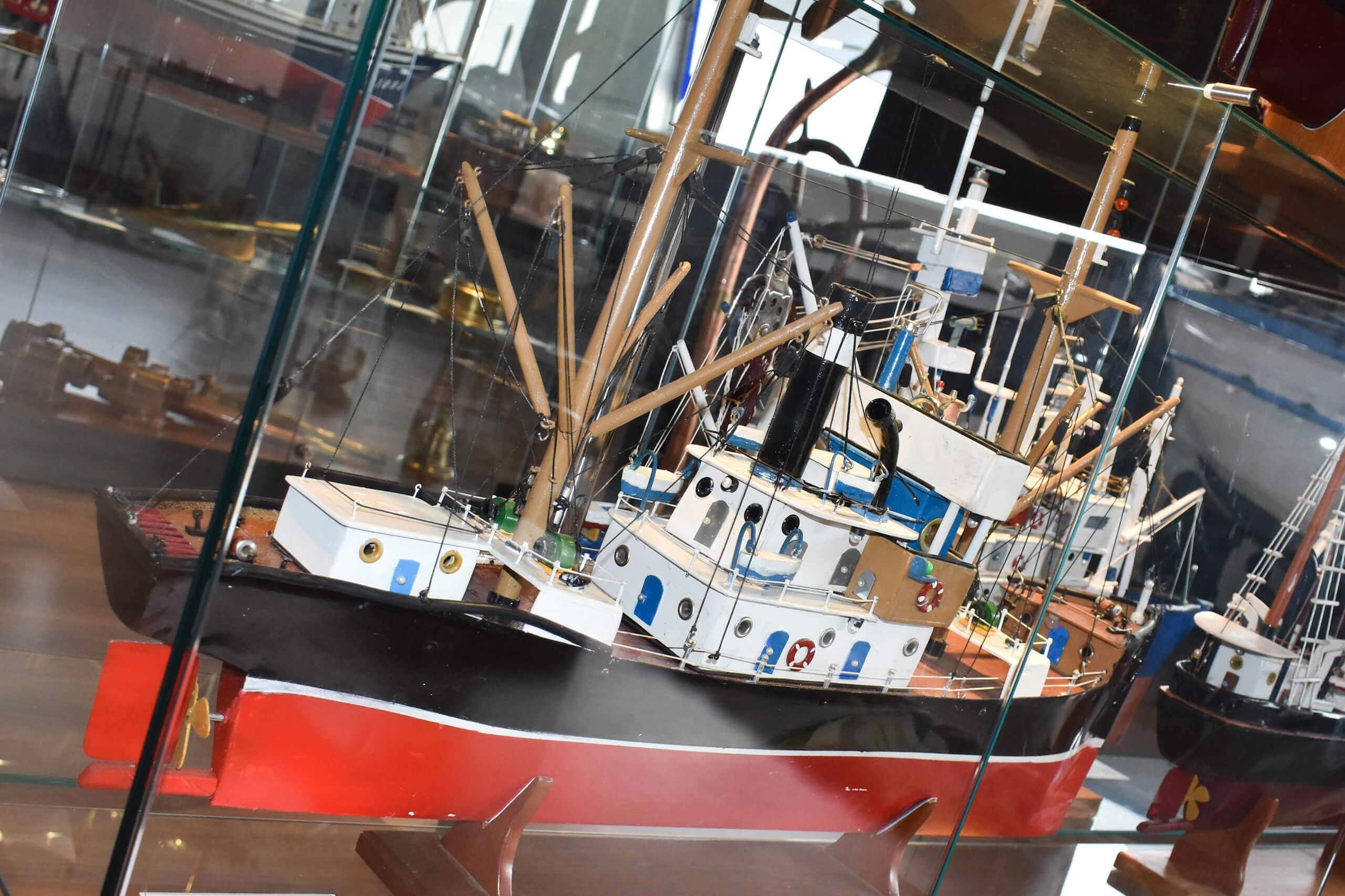 Ejemplo de maqueta de barco tipico de Cedeira - Museo Mares de Cedeira