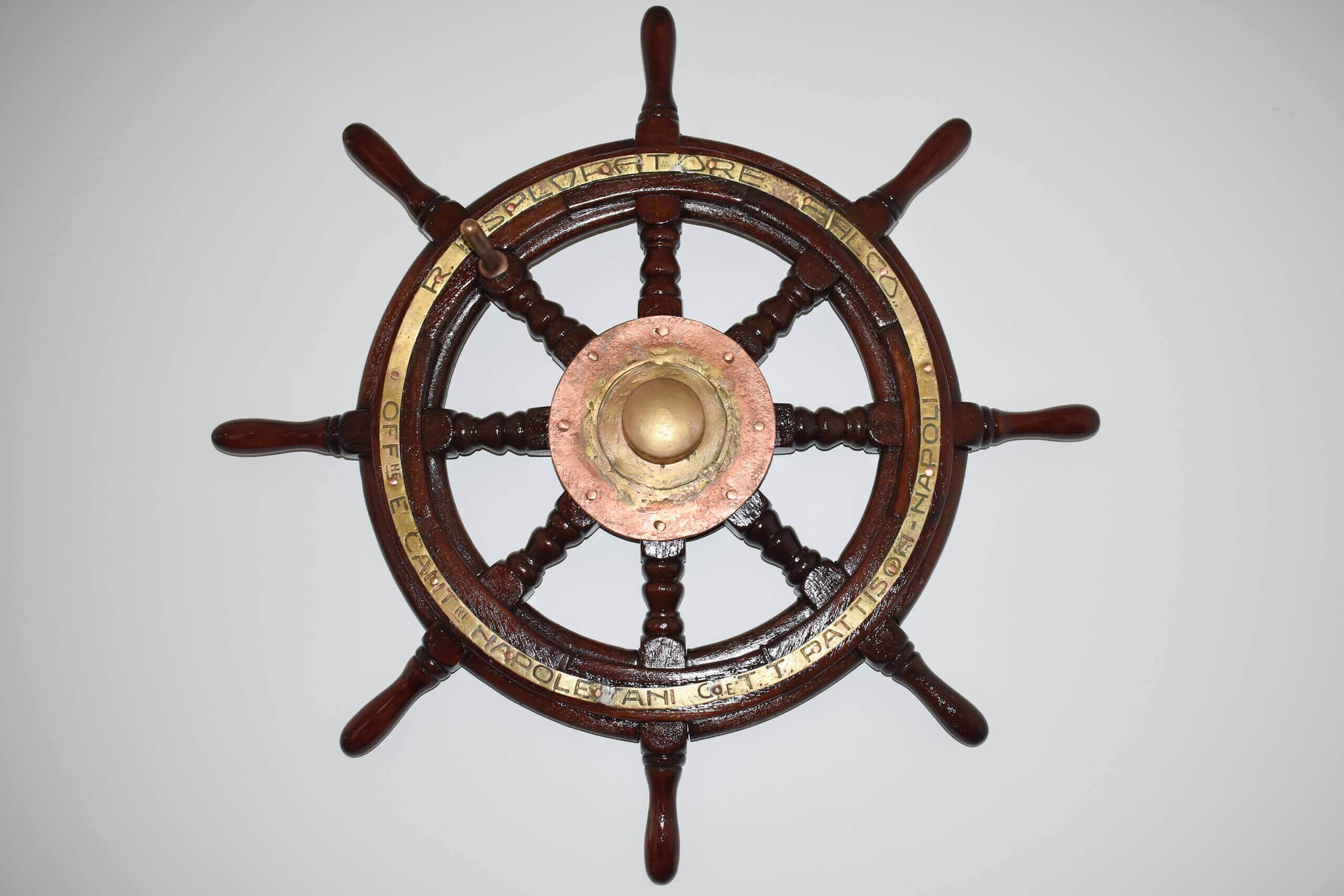 Timon de barco de Cedeira - Sala de Embarcaciones.jpgG